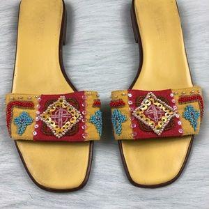 Vaneli Shoes - Vaneli Vero Cuoio Aztec Beaded Sequin Sandals 8 M
